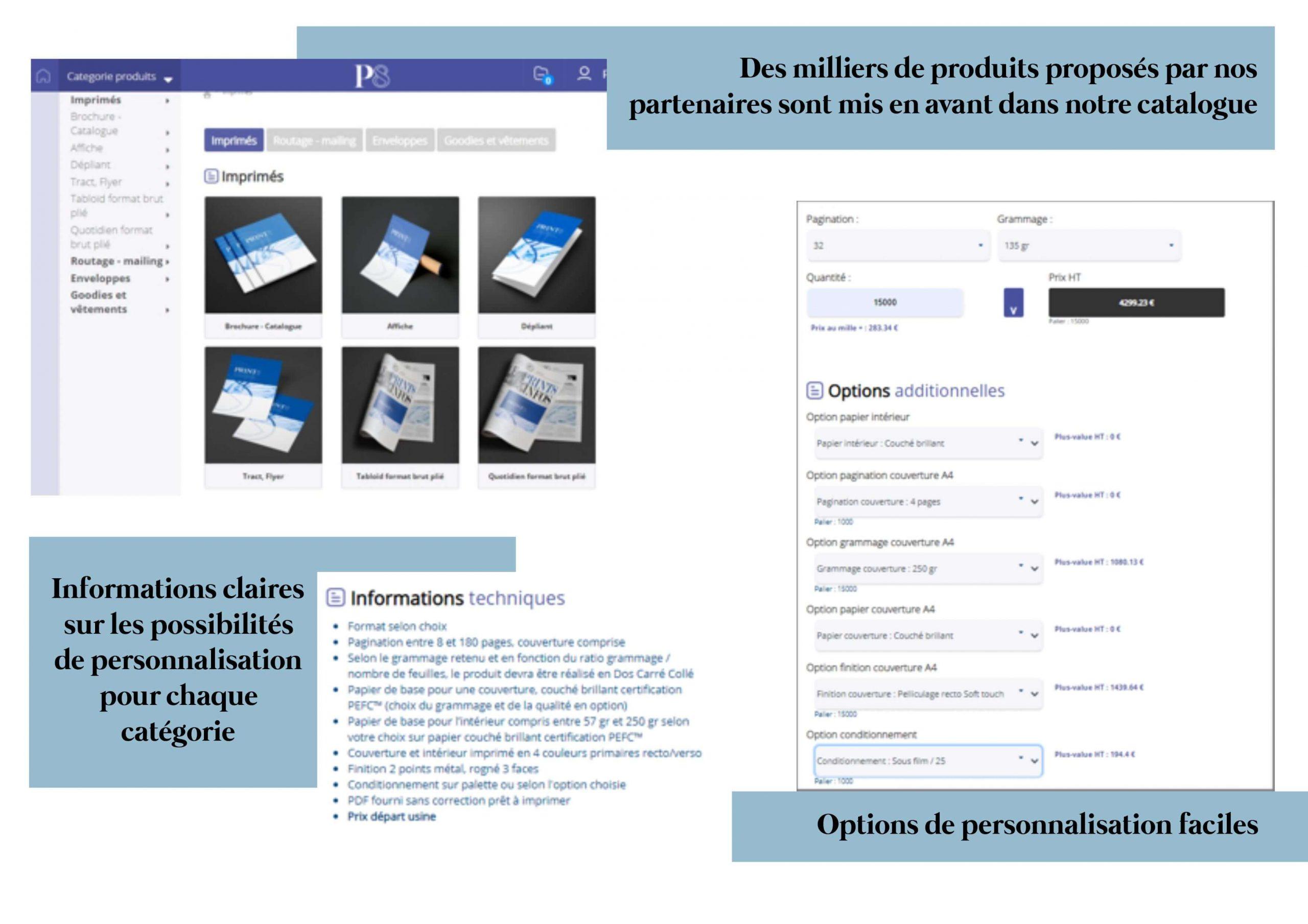 Print8 catalogue logiciel en ligne professionnel imprimerie